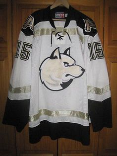 Andover-Huskies-game-used-high-school-hockey-jersey-men-039-s-XL-15-Minnesota-white