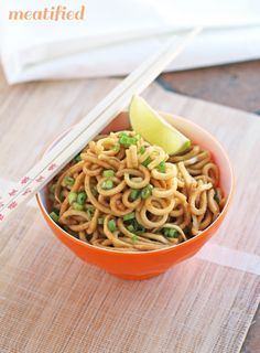 Garlic Ginger Parsnip Noodles - sounds very good! (she doesn't cook them, but does give instructions for sauteeing the parsnips first, but i would boil them for a couple minutes to get them to have more of an al dente mouthfeel)