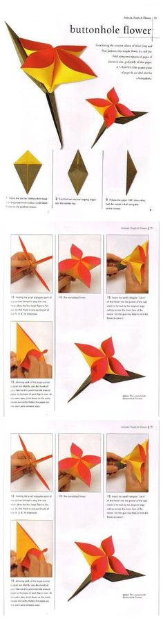 Paper buttonhole flower. Another cute, simple idea