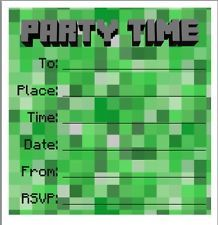 diy minecraft invitations | Party / Birthday Invites / Invitations Minecraft Style