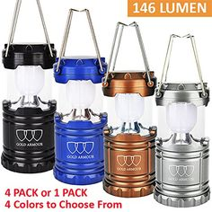 [1 Pack and 4 Pack] GoldArmour LED Camping Lantern Flashlights For Backpacking & Camping Equipment Lights - Best Gift Ideas (AA Batteries Included) Outdoor Store [gallery] NO MORE CHEAP & HEAVY LED CAMPING LANTERNS & FLASHLIGHTS! THE BEST OUTDOOR CAMPING GEAR & BACKPACKING GEAR IS FINALLY HERE! Introducing the Gold Armour Camping Lantern LED Light Survival Gear. THE MOST CONVENIENT BACKPACKING & HIKING LIGHTS THAT WILL MAKE YOU THE CAMPING TRIP SAVING GRACE  Are you fed up with those bulky…