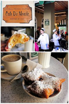Cafe du Monde, beignets. You can't go to New Orleans without going to Cafe du Monde.  You just CAN'T.
