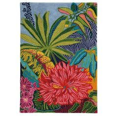 Captiva Rug in Multi (floral Pattern, Rug Sample) | Handmade Area Rugs from Company C