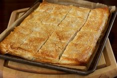 Greek Spinach and Feta Pie from Cook's Illustrated Spanakopita Recipe, Phyllo Dough, Spinach And Feta, Breakfast Lunch Dinner, Savoury Dishes, Greek Recipes, Easy Meals, Pie, Cooking