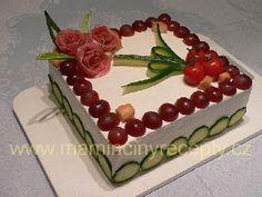 Salámový dort Food And Drink, Birthday Cake, Snacks, Charcuterie Board, Savory Snacks, Recipes, Food Art, Pastries, Food Items
