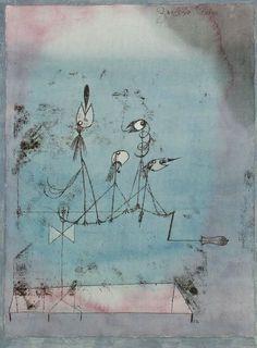 """La machine à gazouiller, Paul Klee. Aurait-il influencé le graphisme des """"Shadocks"""" ?"""