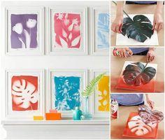 How to DIY Beautiful Botanical Prints Wall Art