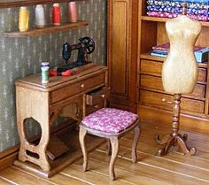 Miniature Sewing Room