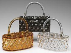 Maxim lucite purses with rhinestones