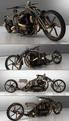 First Steampunk Chopper....not bad....