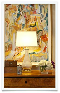 This designer does such a great job of using art and finding the perfect piece - Arts Job - Ideas of Arts Job - This designer does such a great job of using art and finding the perfect piece for the setting small settings & vignettes Collins Interiors Design Entrée, House Design, Home Decor Inspiration, Design Inspiration, Jobs In Art, Interior And Exterior, Interior Design, Art Graphique, Decoration