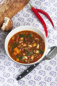 Krydret suppe til den kølige aften.