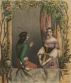 romeo and juliet art | Unknown Artist, France - Romeo And Juliet, c.1840