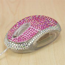 Satzuma Computer Mouse - Diamante Pink The Diamante Mouse is guaranteed to attract attention and stand out. The Mouse is USB powered and is a simple plug and play product and when turned on, the inside illuminates blue. The mouse is of a v http://www.MightGet.com/january-2017-13/satzuma-computer-mouse--diamante-pink.asp