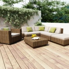 dCOR design Beach Grove Park Terrace 6 Piece Deep Seating Group with Cushions | AllModern $2500