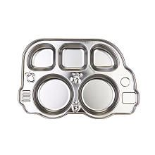 Innobaby Din Din Smart Stainless Divided Platter with Sectional Lid, Stainless Steel Divided Plate for Babies, Toddlers and Kids, BPA Free Plate Five Food Groups, Divided Plates, Baby Plates, Stainless Steel Plate, Toys R Us, Kids Toys, Flatware Set, Cutlery, Food Grade