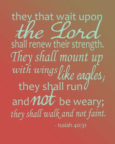 Isaiah 40:31 Digital Print for instant download.