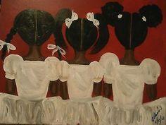 Original African American black art painting signed 16 x 20 Black Girl Art, Black Women Art, Art Girl, Black Girls, Black Art Painting, Black Artwork, Hair Painting, Natural Hair Art, Natural Girls