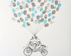 Wedding guest book thumbprint tree 22 x 28 200 300 Guests