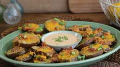 Cheese and Bacon Potato Rounds Allrecipes.com.  These look yummy!