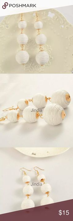 💫NEW💫 Bon Bon Earrings 💫Brand New💫Light weight 💫Super Trendy💫WHITE color💫No Trades  🏡Smoke and pet free home 🏡 😉Ships same/next day. Jewelry Earrings