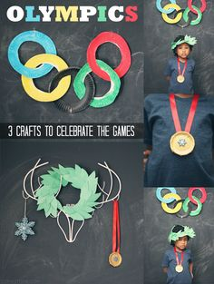 Winter Olympics: 3 Crafts to Celebrate the Games via @Sheena Birt Birt Tatum (Sophistishe.com)