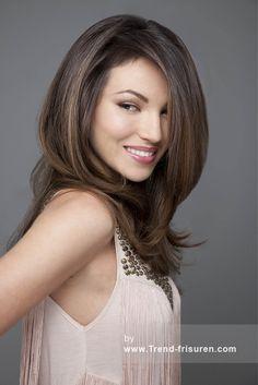 KERASTRAIGHT Lange Braun weiblich Gerade Farbige Perfekte Mädchen Frauen Frisuren hairstyles