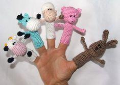 Fingerpuppen selber häkeln-Bauernhof-Motive ★