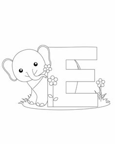 Letter E Coloring Page is part of Coloring letters -