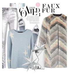 """metallics & faux fur"" by dotty-28 ❤ liked on Polyvore featuring Étoile Isabel Marant, Ted Baker, Accessorize, Chiara Ferragni, 360 Sweater, Rebecca Minkoff, metallic and fauxfurcoats"