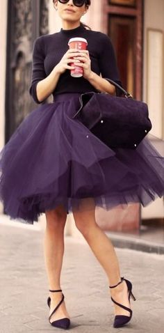 Tulle skirt. More