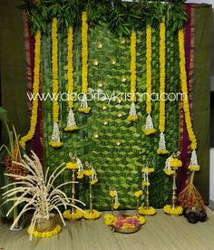 Varalakshmi Vratham Decoration Ideas Fresh Decorbykrishna is Taking orders for Eco Friendly Home Based Desi Wedding Decor, Wedding Backdrop Design, Bohemian Wedding Decorations, Backdrop Decorations, Flower Decorations, Backdrops, Janmashtami Decoration, Ganapati Decoration, Green Home Decor