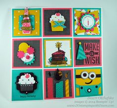 Birthday Sampler: Minion Punch Art by dostamping - Cards and Paper Crafts at Splitcoaststampers