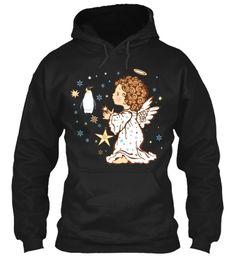 Princess Penguin Shirt , Hoodie Black Sweatshirt Front