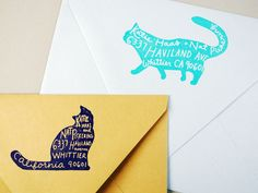 Pet return address stamp by paper pastries