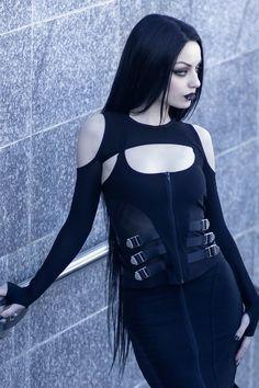 Goth Beauty, Dark Beauty, Darya Goncharova, Hot Goth Girls, Goth Women, Sexy, Mesh Long Sleeve, Cosplay, Gothic Outfits