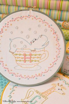 Embroidery Pattern PDF H is for Hippo In a by sherimcculley