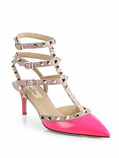 Valentino Rockstud Patent Leather Slingback Pumps. These pretty babies come in other colors. Rock them with just about anything.