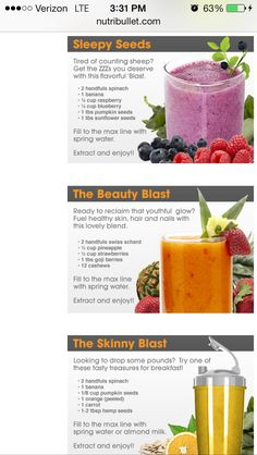 Nutribullet recipe
