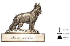 German Shepherd, dog plaque, can be engraved, limited edition, ArtDog German Shepherd Dogs, Clay Art, Lion Sculpture, Statue, Canning, Christmas Ornaments, Etsy, Collection, Christmas Jewelry
