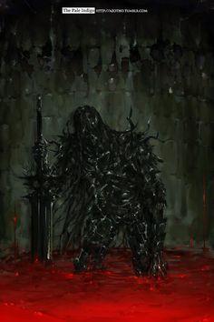 Dark Souls - Dark Wraith in blood by The Pale Indigo