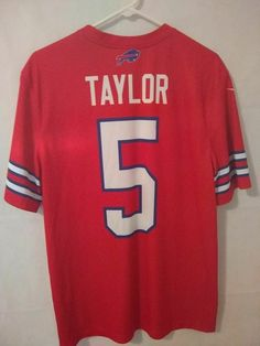 Tyrod Taylor Buffalo Bills size M Nike Color Rush jersey red  Nike   BuffaloBills 19365749e