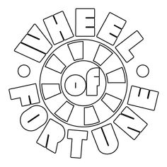 wheel of fortune coloring pages - photo#18