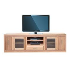 Alma Tasmanian Oak Lowline TV Unit in Natural- 200cm