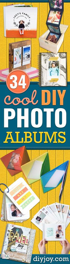 34 DIY Photo Albums To Showcase All Those Pics You've Been Wanting To Display DIY Photo Albums - Easy DIY Christmas Gifts for Grandparents, Friends, Him or Her, Mom and Dad - Creative Ideas for Making Wall Art and Home Decor With Photos Best Gifts For Mom, Diy Gifts For Friends, Cool Diy, Fun Diy, Foto Fun, Easy Diy Christmas Gifts, Diy Birthday Decorations, Diy Weihnachten, Diy Photo