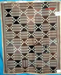 ELONGATED HEX WITH FLYING GEESE QUILT                 PC  this is from 1800's