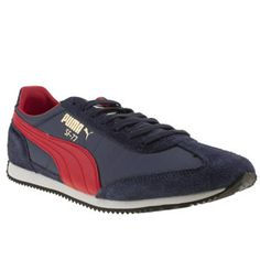 Men s Navy   Red Puma Sf77 at schuh Trainer Boots 479c5f847