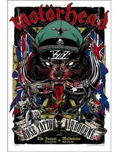 Lithographie rock n roll rhys cooper motorhead