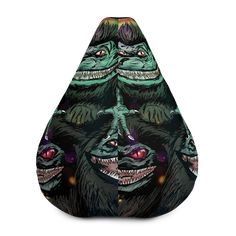 Critters All-Over Print Bean Bag Chair w/ filling Fabric Weights, Sliders, Bean Bag Chair, Vibrant, Horror, Beans, Comfy, Movie, Film Movie