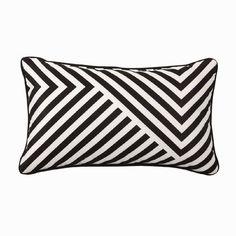 Living & Co Outdoor Cushion Stripe Black/White x Outdoor Cushions, Throw Pillows, Black And White, Bags, Balcony, Handbags, Toss Pillows, Outdoor Swing Cushions, Cushions